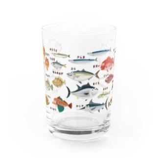 おさかな 集合 Water Glass