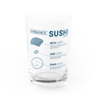 THE 寿TRUCTURE OF SUSHI - monocolor Water Glass