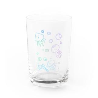 あちゃクラゲ-パステル Water Glass