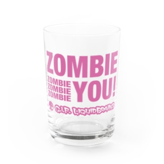 Zombie You! (pink print) Water Glass