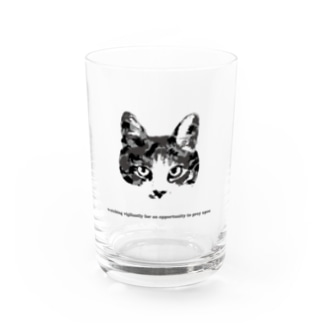 Army Cat モノクローム Water Glass