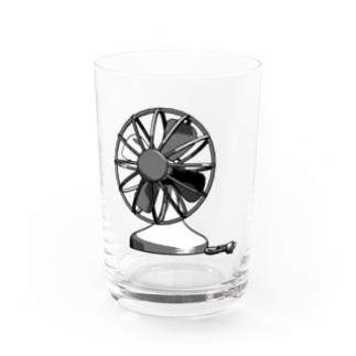 Electric Fan Water Glass