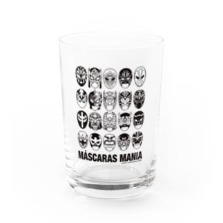 MASCARAS MANIA(黒プリント) Water Glass