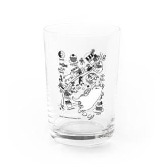 sweets town Water Glass