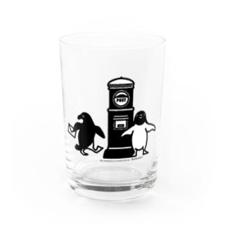 アデリーペンギンお手紙だす Water Glass