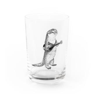 マンドリンを弾くカワウソ Water Glass
