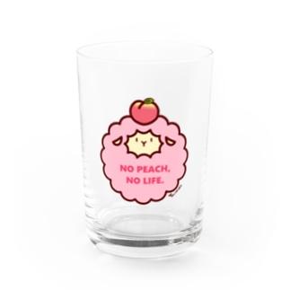 NO PEACH,NO LIFE.(ベージュ) Water Glass