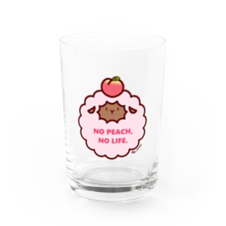 NO PEACH,NO LIFE.(ブラウン) Water Glass