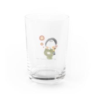 秋のおさげちゃん2 Water Glass