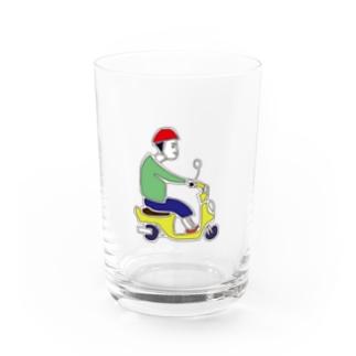 ばいく Water Glass