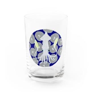 パンチニードル烏賊 Water Glass