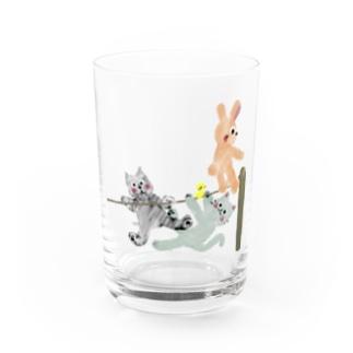 甘えん坊全員集合!【ゆめかわアニマル】 Water Glass