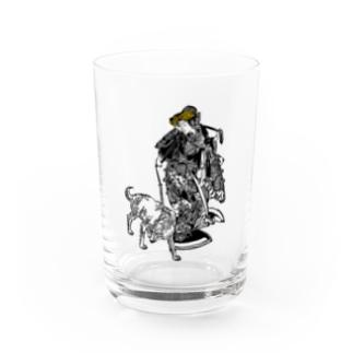 伏姫と八房 Water Glass