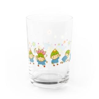 でんぐり返し Water Glass