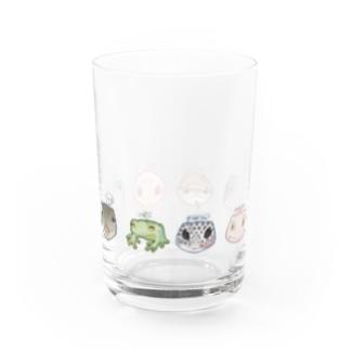 ペット大集合!(横並び) Water Glass