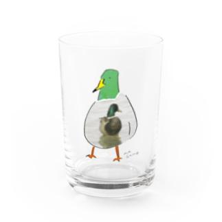 カモかもしれない Water Glass