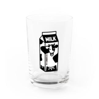 牛乳パック01 Water Glass