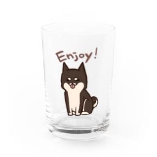 ゆるしば(黒) Water Glass