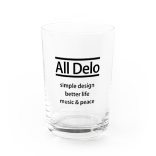 All Delo - better life Water Glass