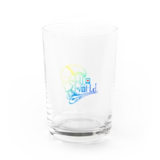 Hello World Water Glass