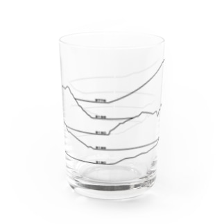 Japanese mountains Water Glass