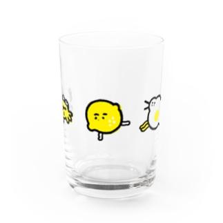 カニ・レモン・ホコリ Water Glass
