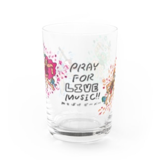 Pray for LIVE music アマビエ グラス Water Glass