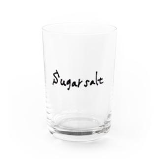 sugarsaltのsugarsalt LOGO Black Water Glass前面