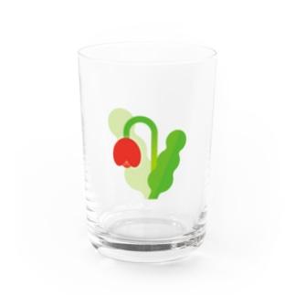 Flower15 Water Glass