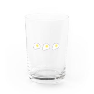 söpö minäのめだまやきグラス Water Glass前面