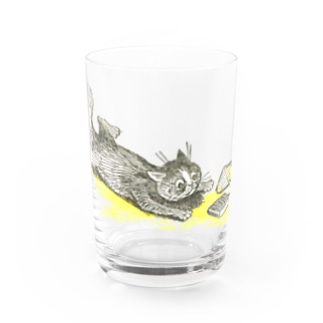 本とねこ Water Glass