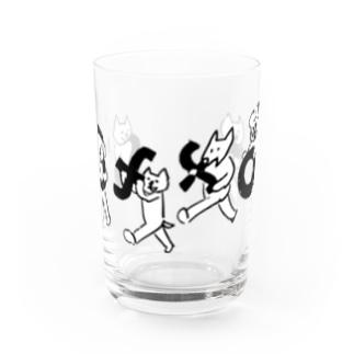 とんちピクルスのみんなでもってきたcoffon Water Glass前面