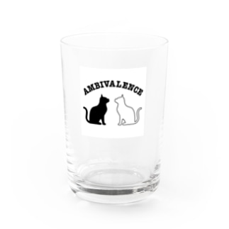 ambivalence official goodsのアンビバキャット Water Glass前面