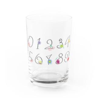 彩erの数字 Water Glass前面