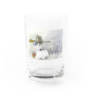 黒頭巾ちゃん色替え透明ドレスグラス Water Glass