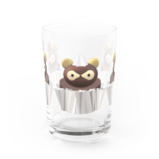 3Dたぬきケーキ Water Glass