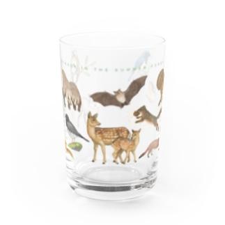 夏の山の動物たち Water Glass