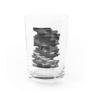 さらに積んだ本 Water Glass