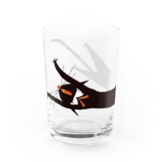 くろねこ ろびんちゃん びろーん Water Glass