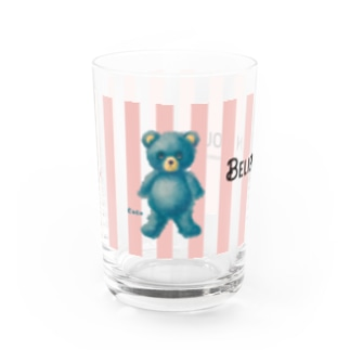 【Believe in yourself.】(青くま) グラス Water Glass