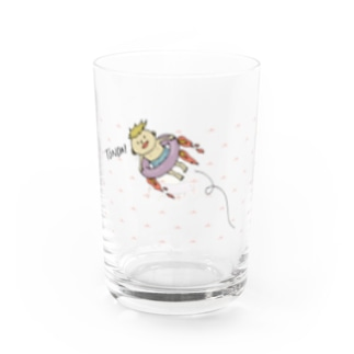 CHR NO OMISEの飛ぶ少年 Water Glass左面