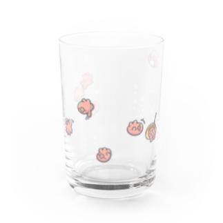泳ぐたこ(濃) Water Glass