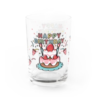 HAPPY BRITHDAY_2 Water Glass