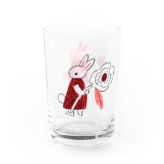 うさはなグラス Water Glass