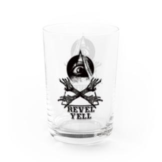 """""""revel yell"""" water glass Water Glass"""
