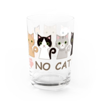 NO CAT NO LIFE Water Glass