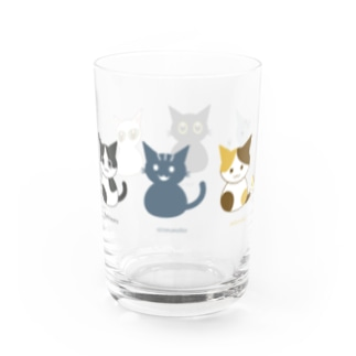 6cats parade Water Glass