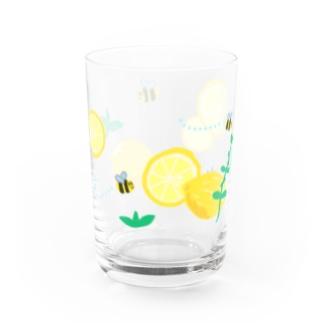 ハチとレモン+ミント Water Glass