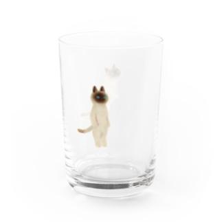 たたずむねこ Water Glass
