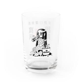 おさけだいすきアマビエちゃん Water Glass